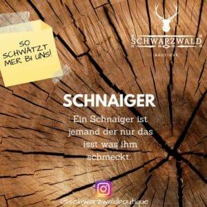 Begriffserklärung Schnaiger schwarzwald sprachschule