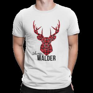 SchwarzWälder Hirsch auf T-Shirt
