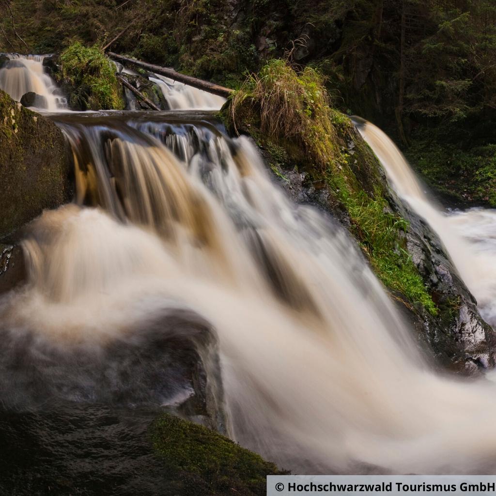 Schwarzwald schlucht mit wasserfall