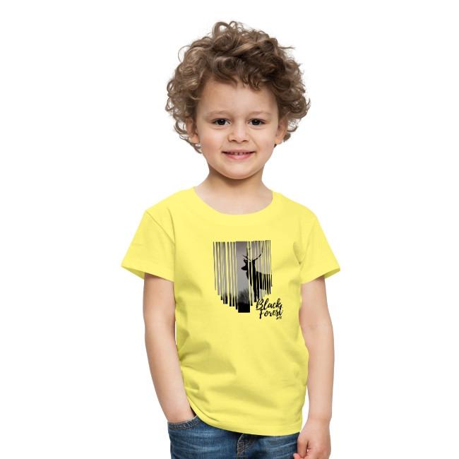 schwarzwald kinder t-shirt - schwarzwald hirschkopf