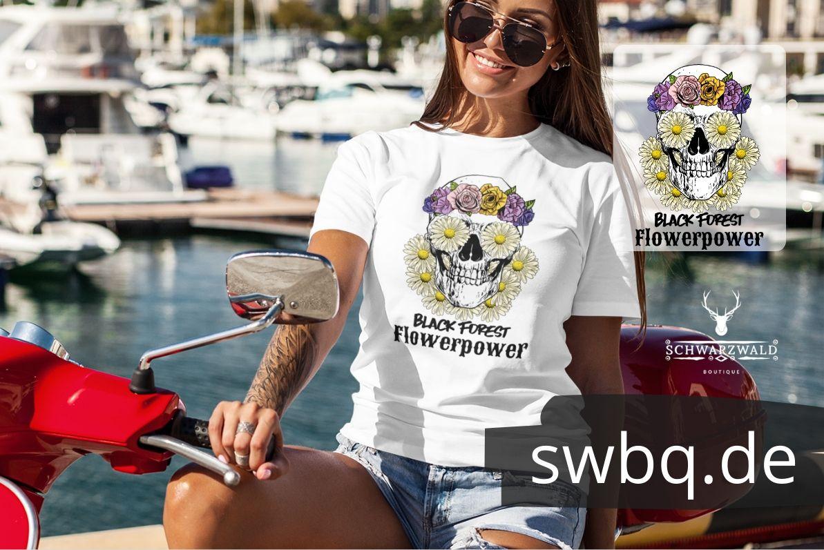 schwarzwald frauen t-shirt - black forest flower power