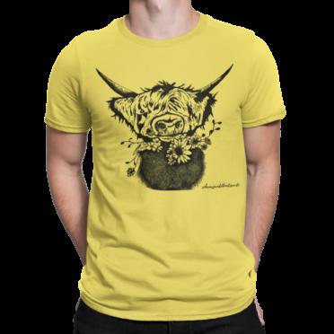 t-shirt Design Schwarzwald Blumen Rindvieh
