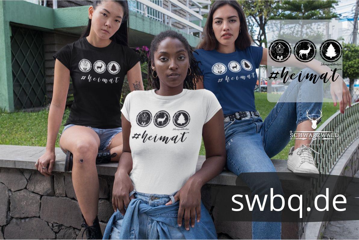 schwarzwald frauen t-shirt - hashtag heimat