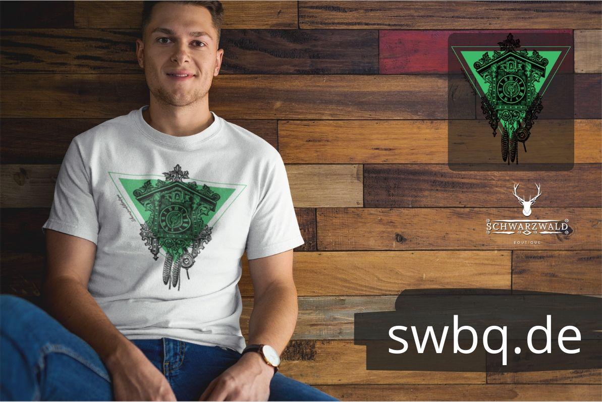 schwarzwald männer t-shirt - kuckucksuhr