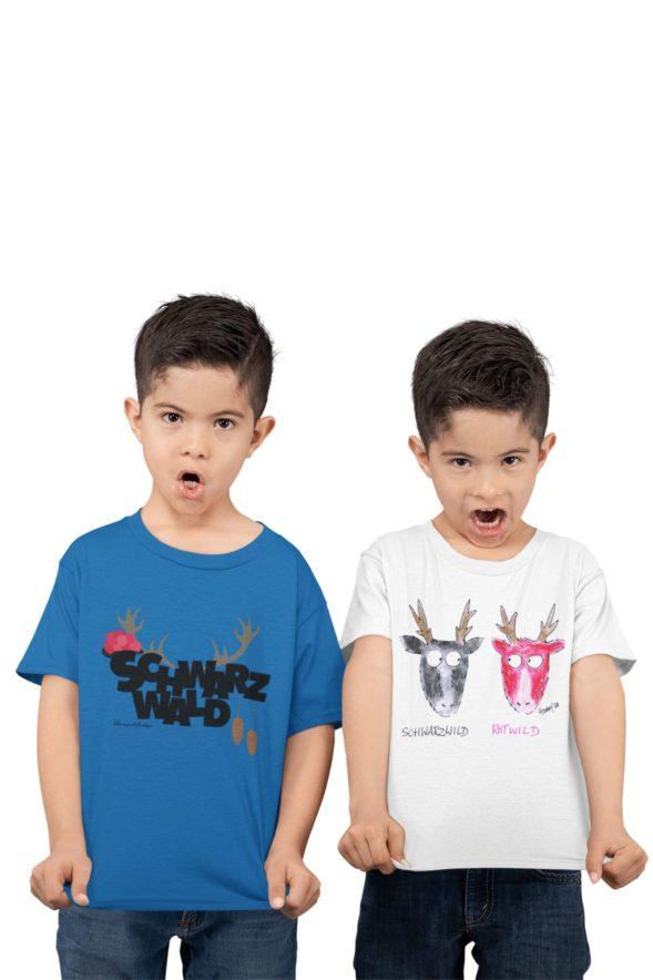 schwarzwald jungen t-shirt - rotwild schwarzwild und schwarzwälder tradition