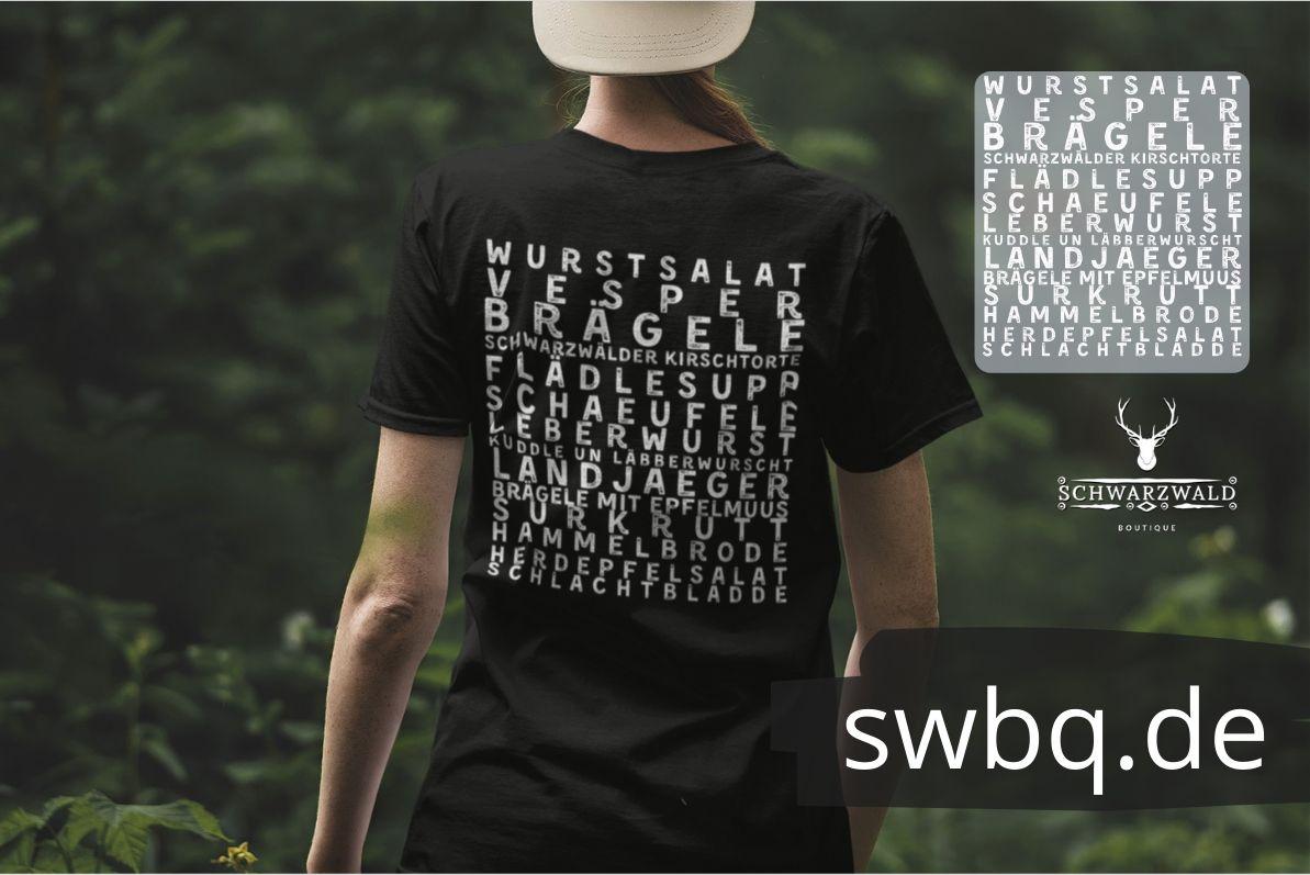schwarzwald frauen t-shirt - schwarzwälder gerichte alemannisch