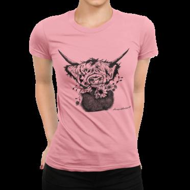 schwarzwald frauen t-shirt - blumen rindvieh