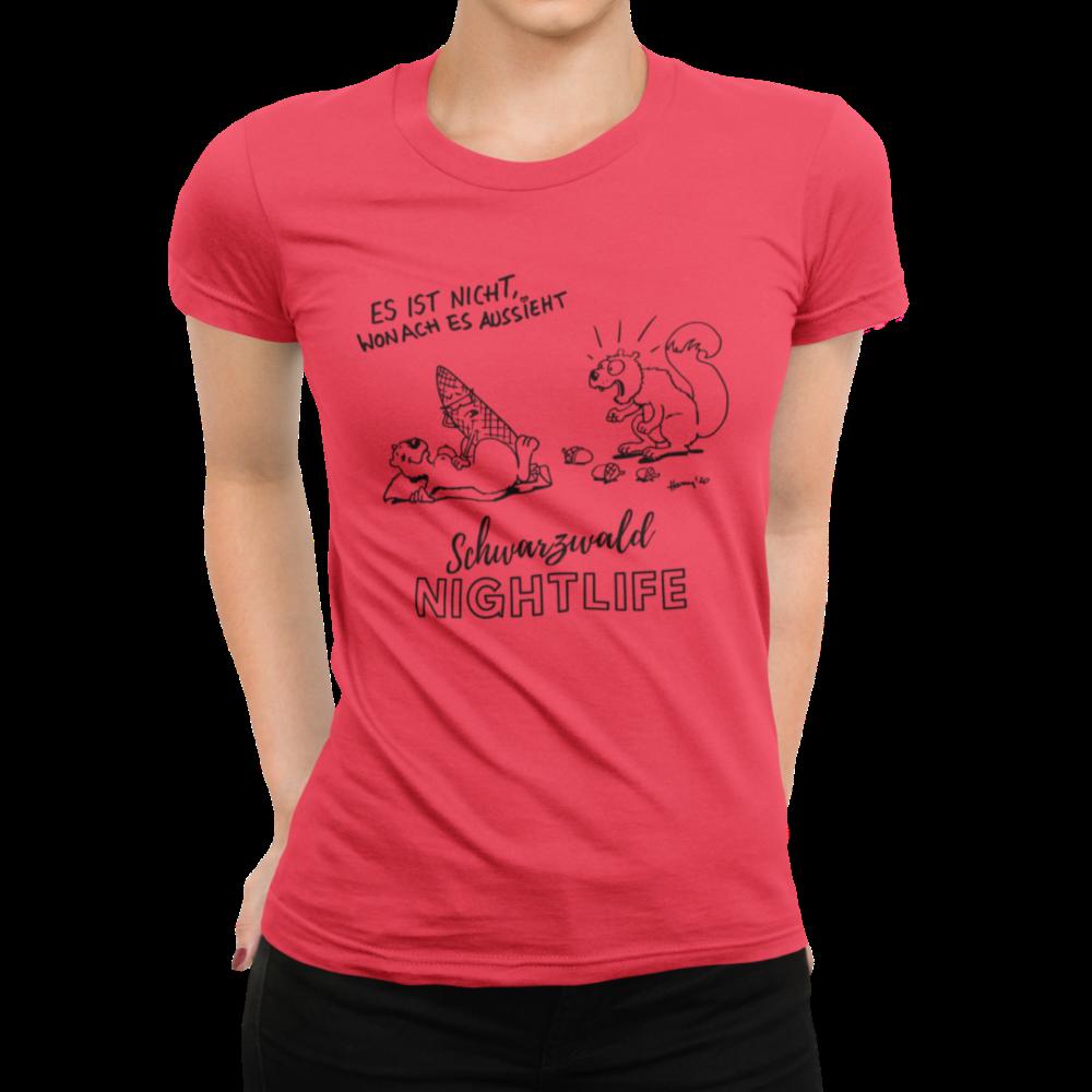 Shirt design Eichhoernchen trifft frau eichhoernchen in flagranti mit tannenzapfen