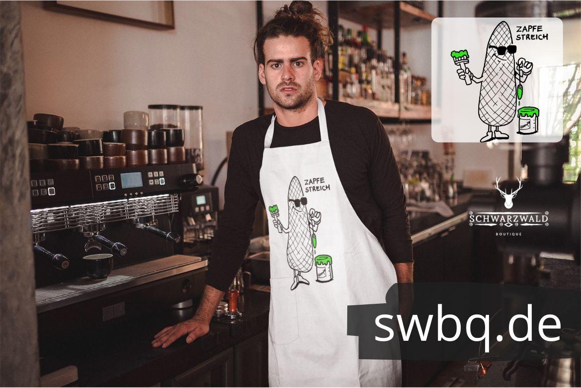 schuerzen design Schwarzwald Tannenzapfen mit pinsel streicht - zapfenstreich