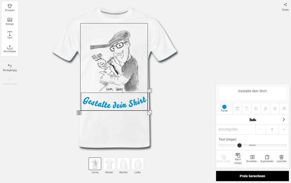 harry zeichnet t-shirt designs