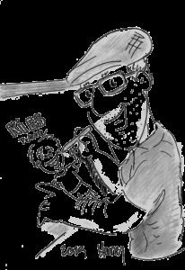karikatur von harry dem zeichner an einer staffelei