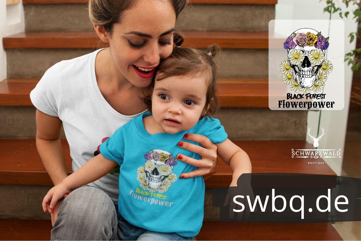 schwkinder & baby kleidung - black forest flower power