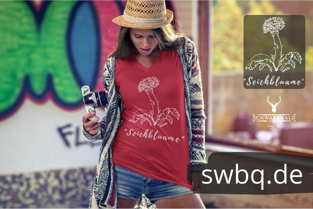 schwarzwald frauen t-shirt - schwarzwald-seichbluame-alemannisch