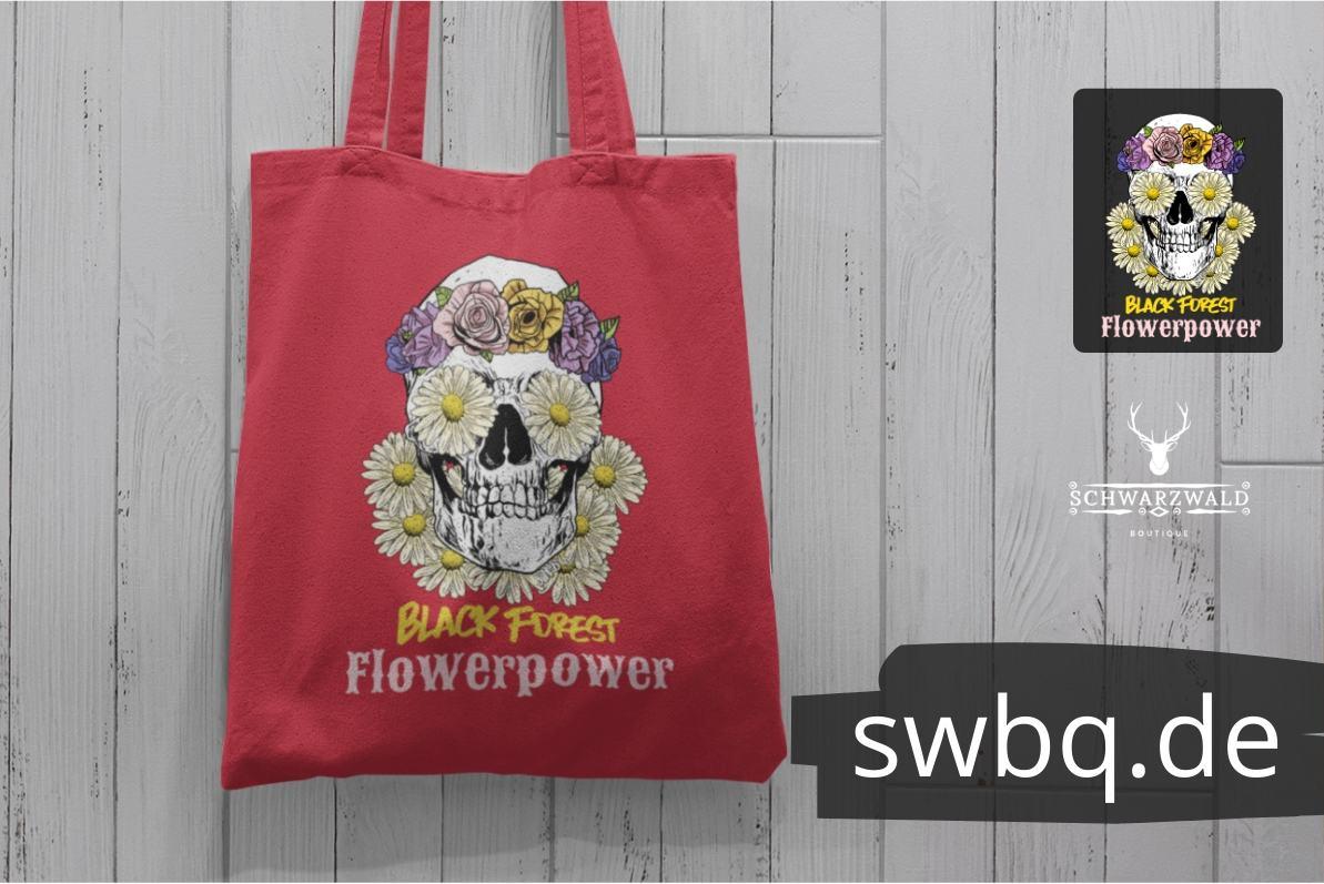 schwarzwald tasche - black forest flower power