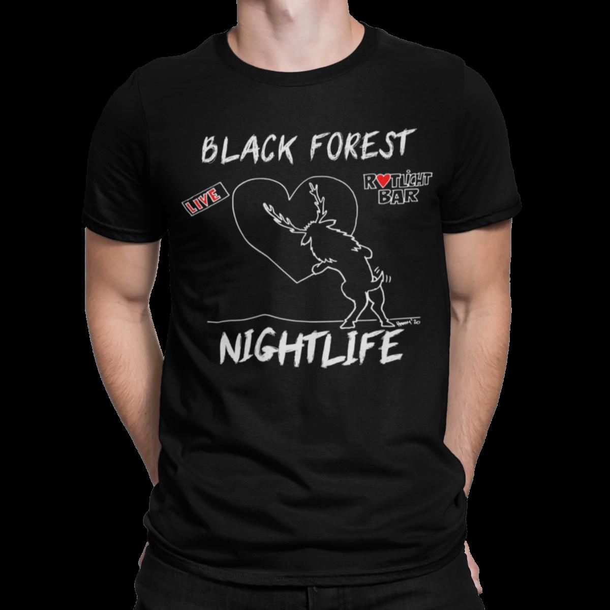 schwarzwald männer t-shirt - Black-Forest-Nightlife