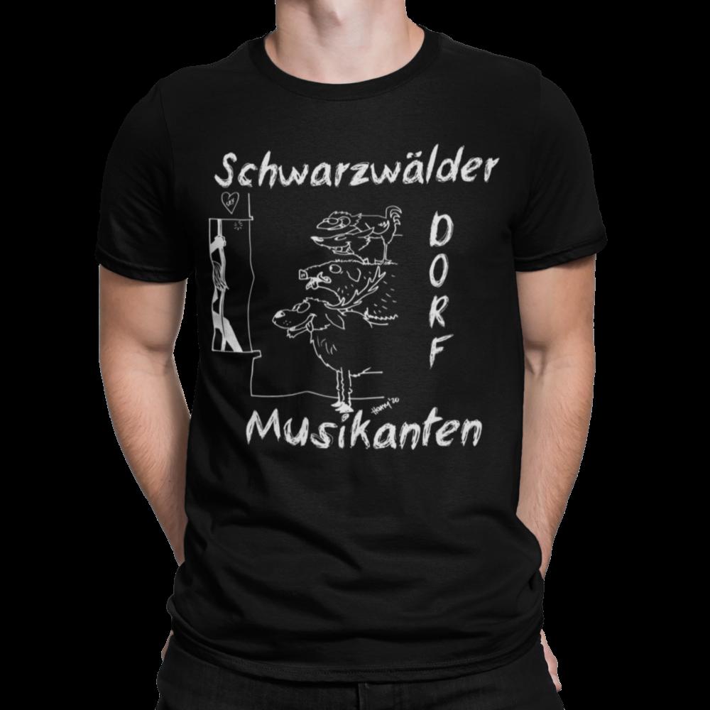 schwarzwald männer t-shirt - schwarzwaelder-dorfmusikanten