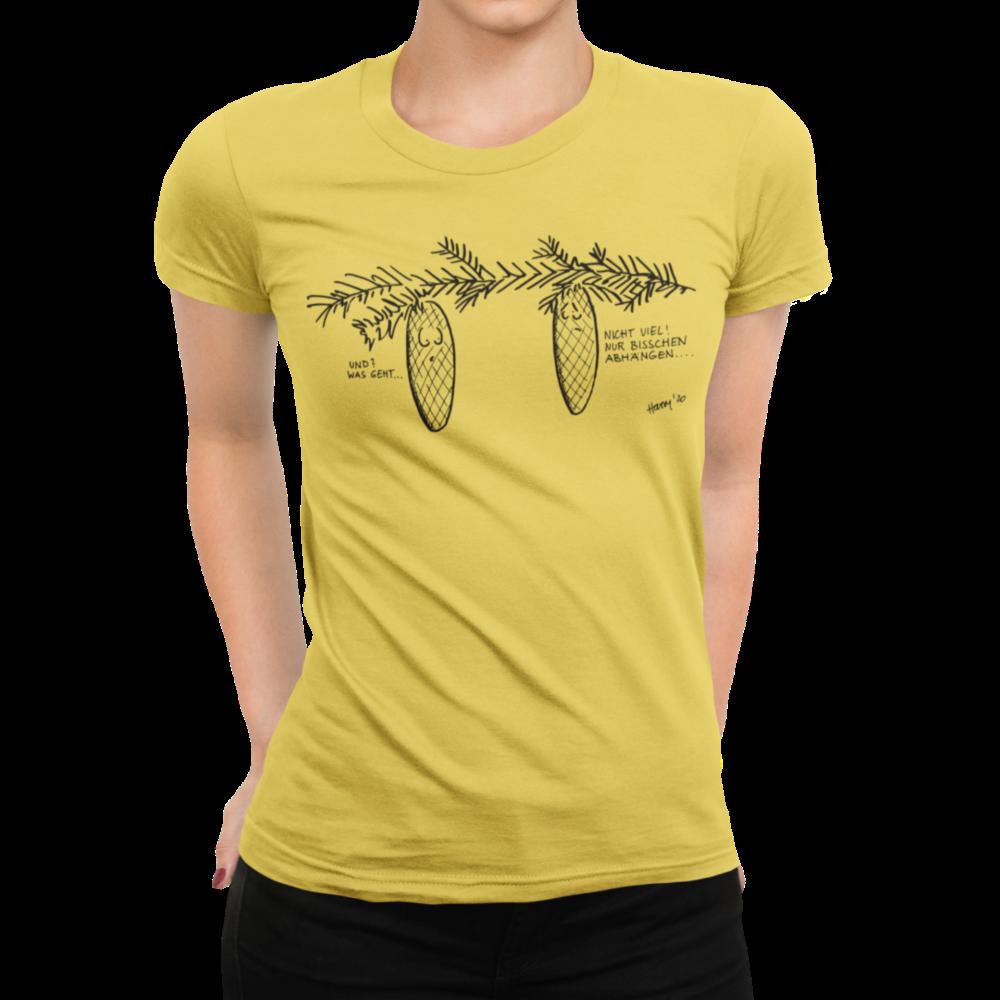 Shirt design Schwarzwald Tannenzapfen haengen ab am Baum