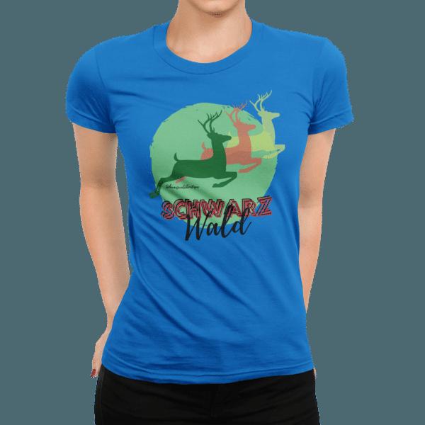 schwarzwald frauen t-shirt - schwarzwald-hirsche