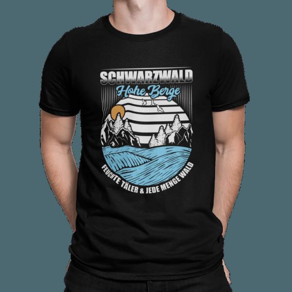 schwarzwald t-shirt - Lustiges Vintage Sunset 80`s Schwarzwald Shirt