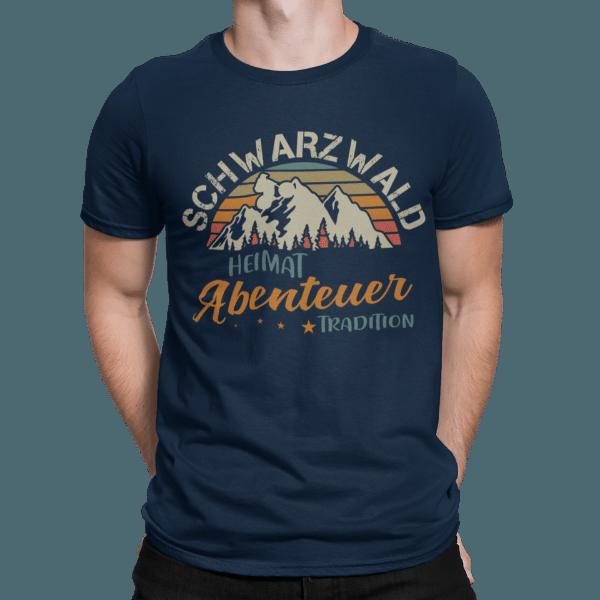 schwarzwald maenner t-shirt - schwarzwald heimat-abenteuer-tradition