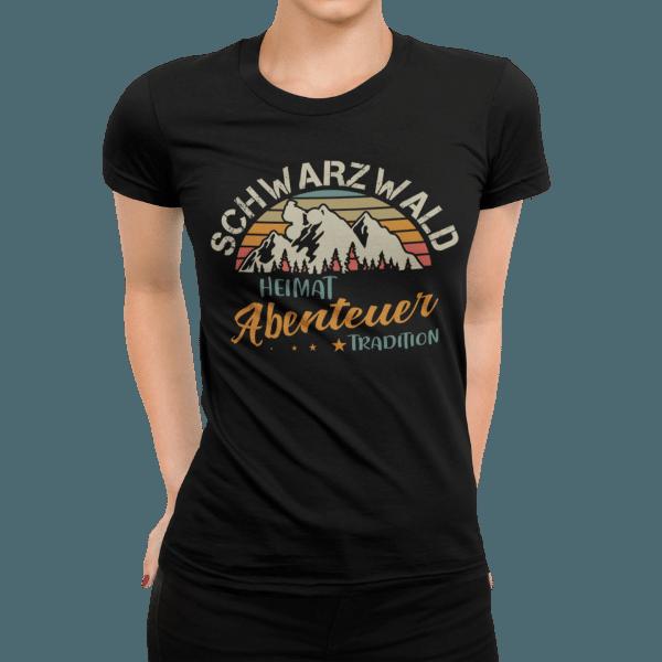 schwarzwald frauen t-shirt - schwarzwald heimat-abenteuer-tradition