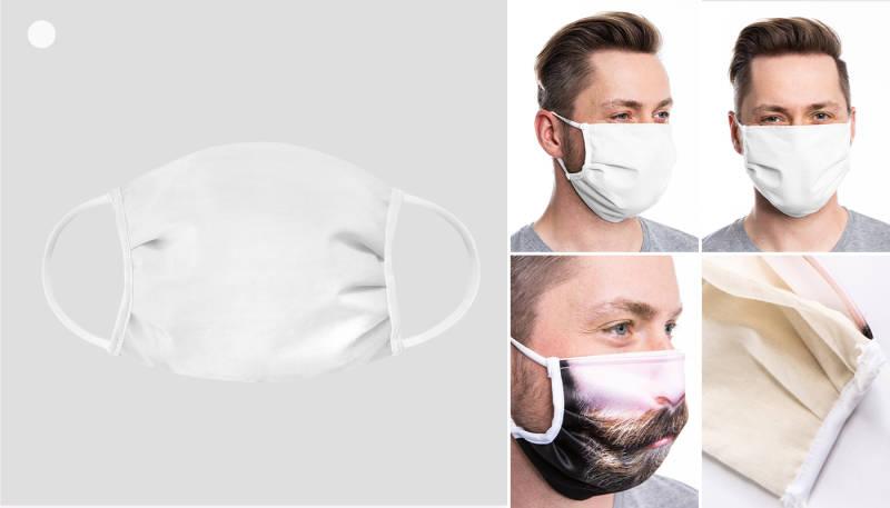 ansicht mundschutz maske frontal und seitenansicht mundschutz baumwolle