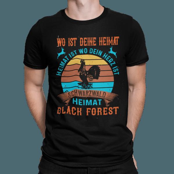 schwarzwald männer t-shirt - schwarzwald-wo-ist-deine-heimat