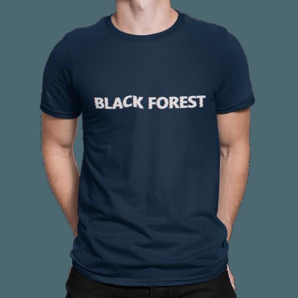 schwarzwald maenner t-shirt - black-forest retro style glitch effekt