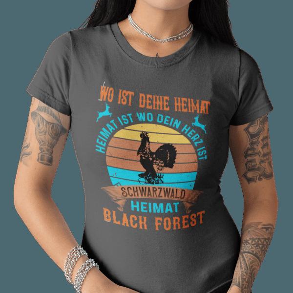 schwarzwald frauen t-shirt - schwarzwald-wo-ist-deine-heimat