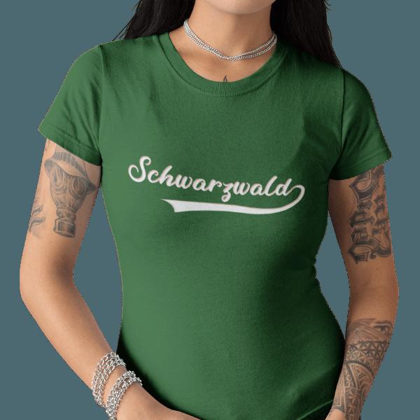 schwarzwald frauen t-shirt - schwarzwald retro style