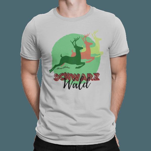 schwarzwald maenner t-shirt - schwarzwald-hirsche
