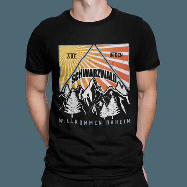 schwarzwald t-shirt - design-schwarzwald retro design auf in den schwarzwald