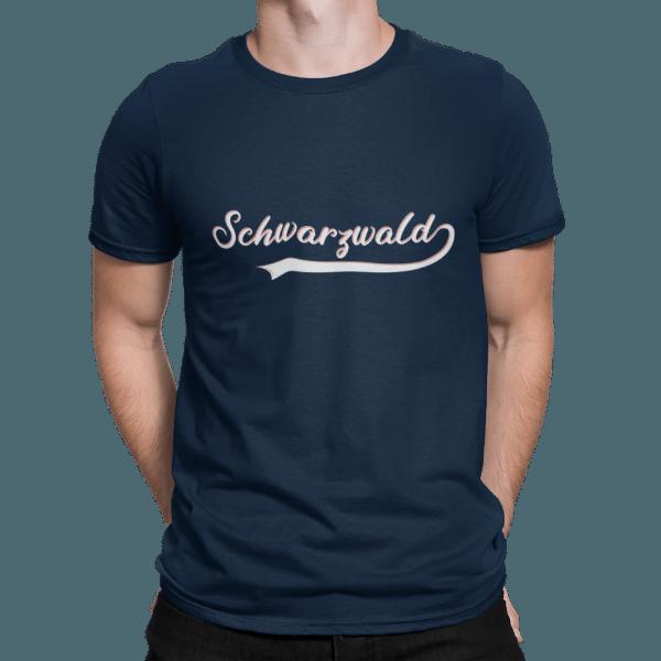 schwarzwald maenner t-shirt - schwarzwald retro style
