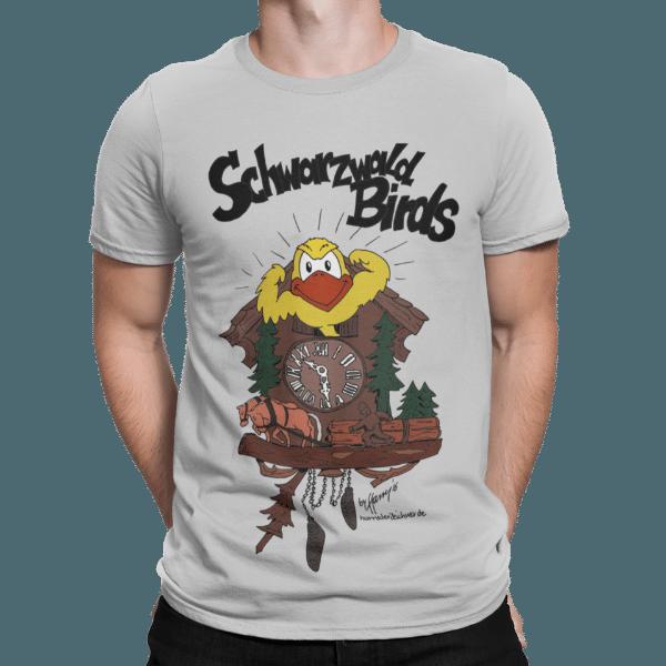 schwarzwald maenner t-shirt - schwarzwald bird aus der kuckucksuhr