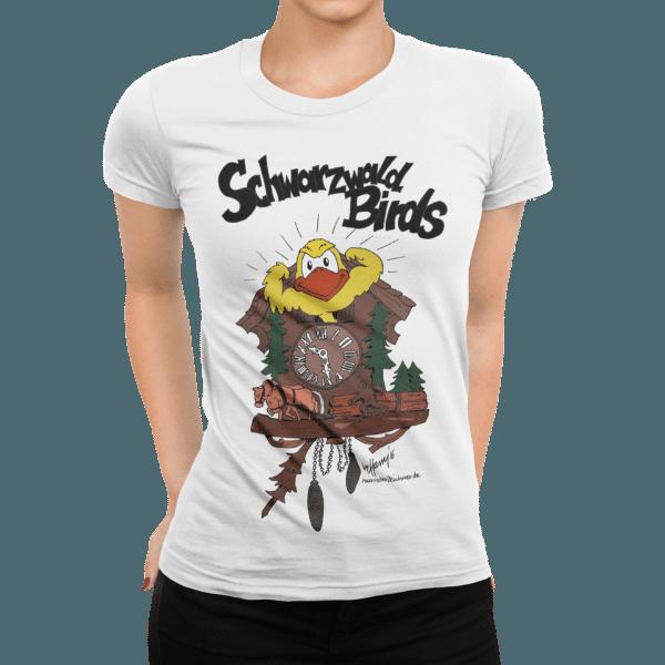 schwarzwald frauen t-shirt - schwarzwald bird aus der kuckucksuhr
