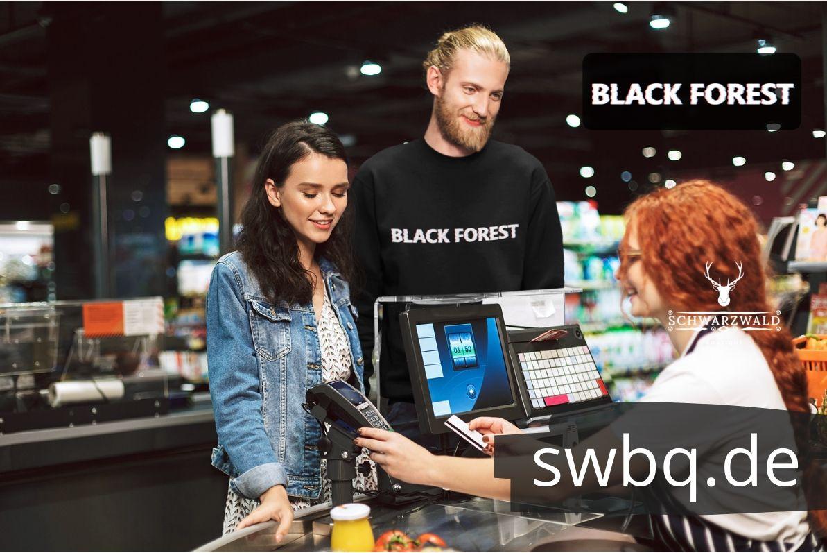 schwarzwald sweatshirt - black-forest retro style glitch effekt
