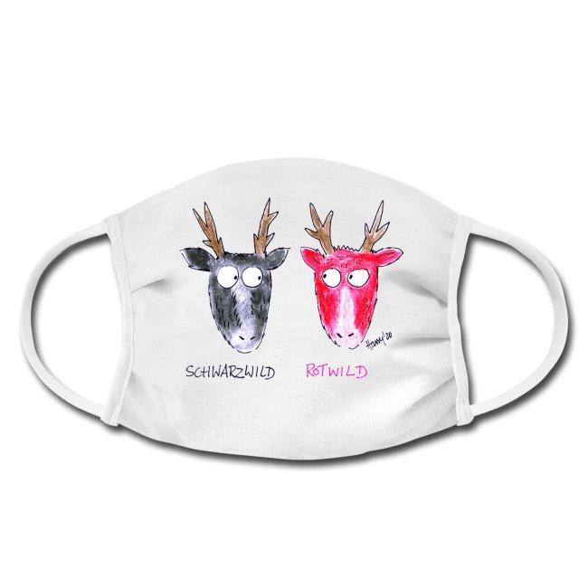 Gesichtsmaske-Mundschutz-maske-schwarzwald-design-hirsche