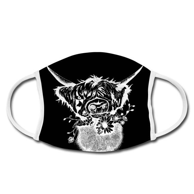 Gesichtsmaske-Mundschutz-maske-schwarzwald-design- rindvieh-kuh