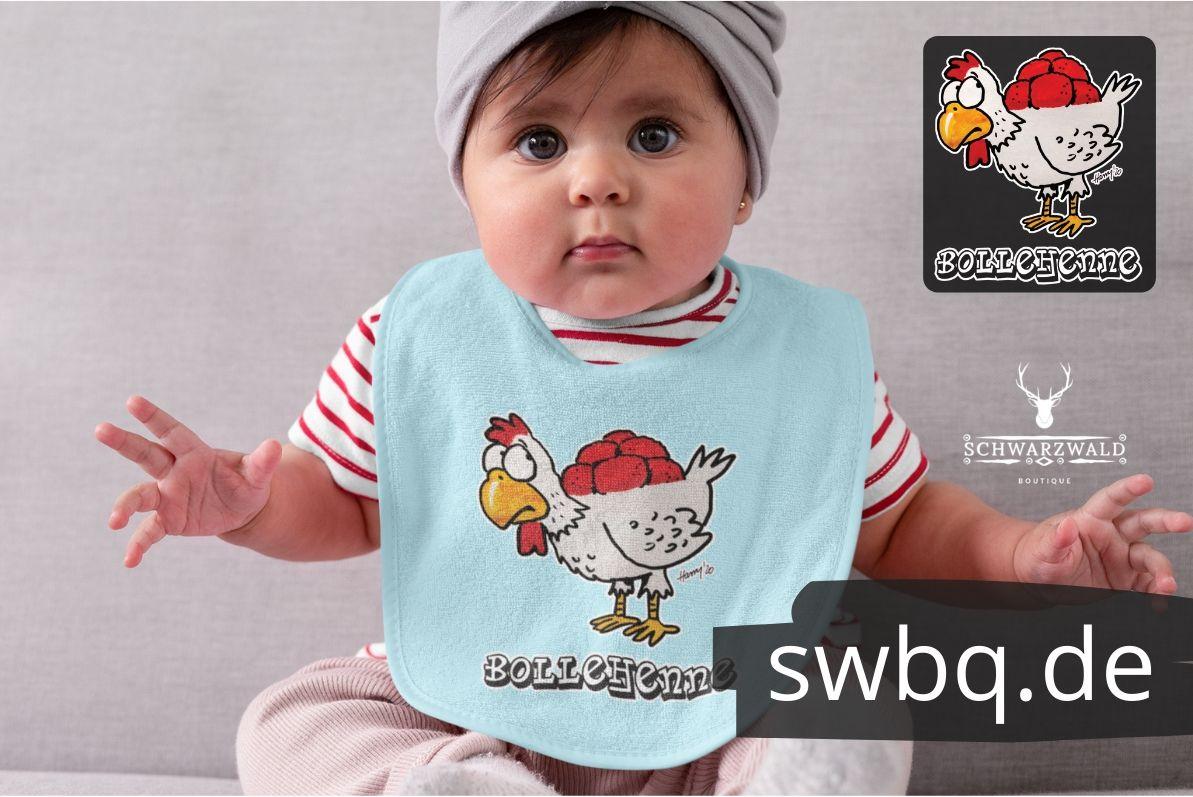 schwarzwald baby latz - huhn mit bollenhut