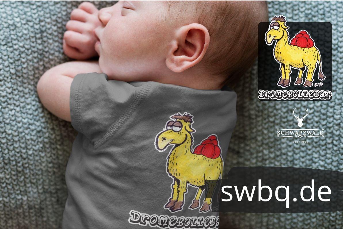 schwarzwald babybody - dromedar mit bollenhut