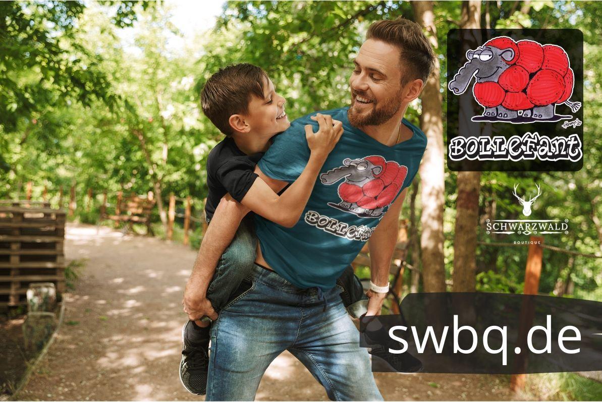 schwarzwald maenner t-shirt - elefant mit bollenhut