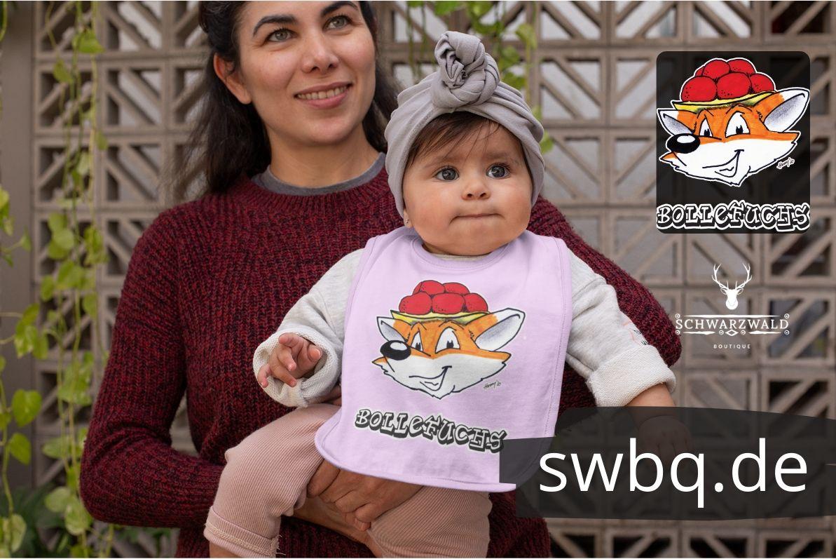 schwarzwald baby latz - fuchs mit bollenhut
