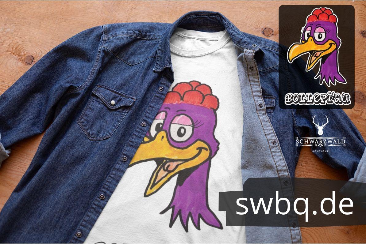 schwarzwald kinder t-shirt - pfau mit bollenhut