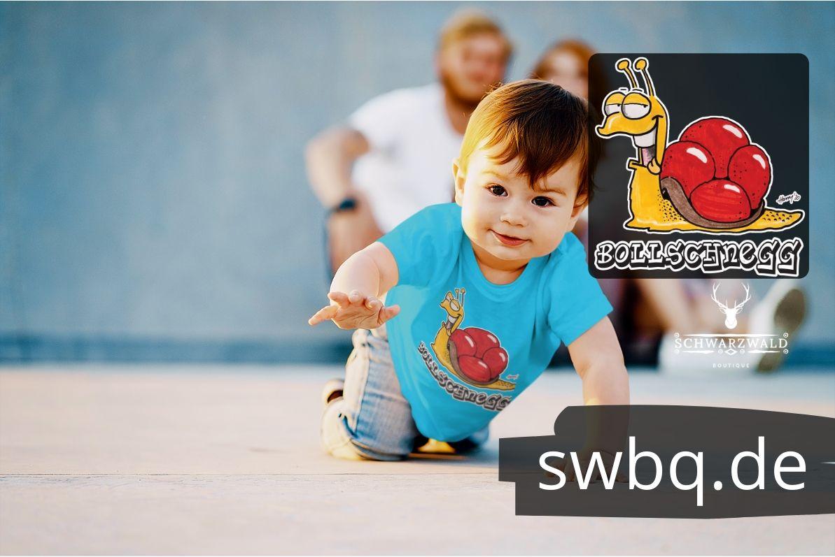 schwarzwald kinder t-shirt - schnecke mit bollenhut