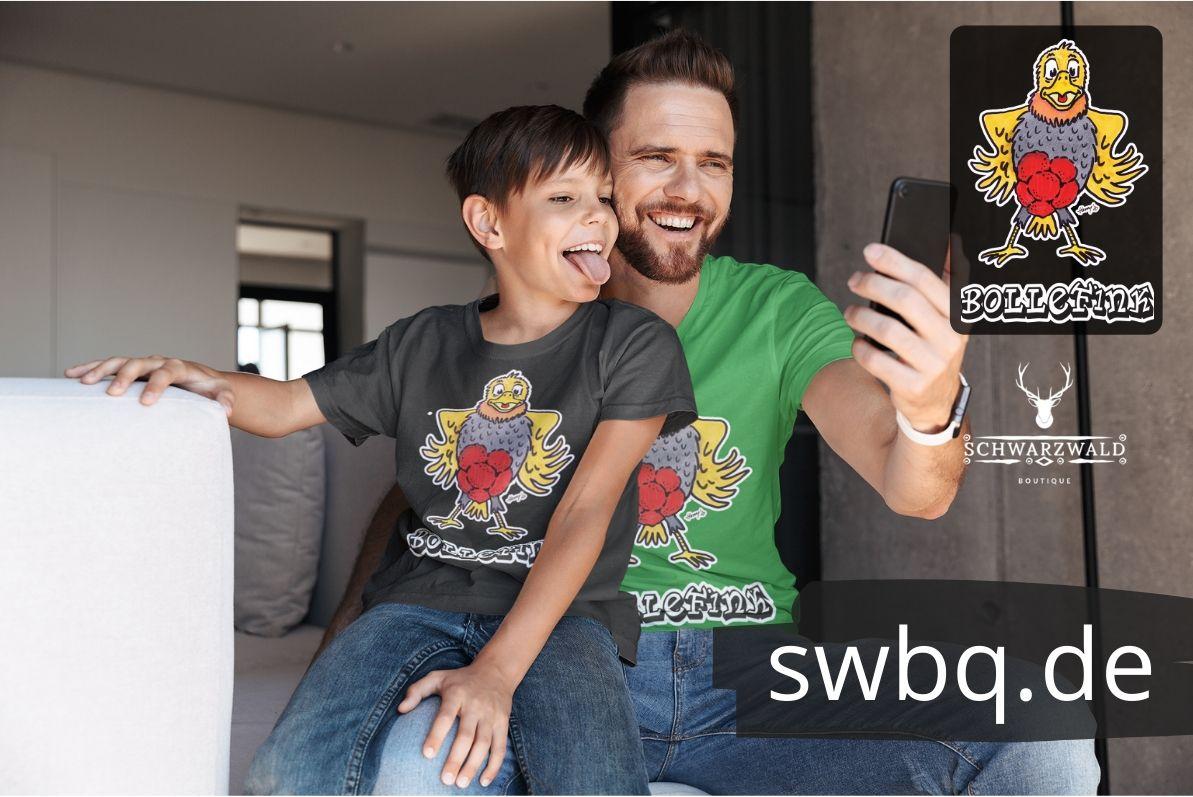 schwarzwald maenner t-shirt - vogel mit bollenhut