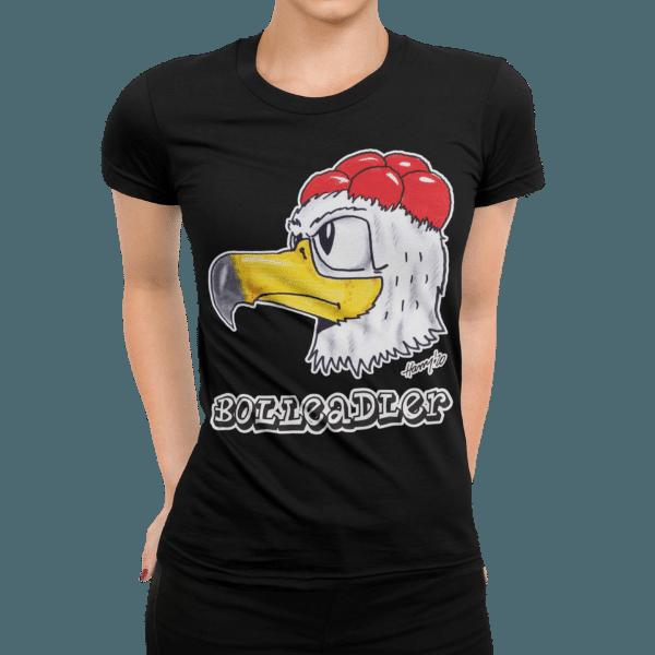 schwarzwald frauen t-shirt - adler mit bollenhut