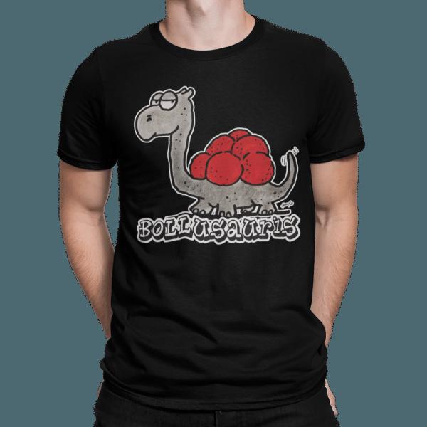 schwarzwald maenner t-shirt - dinosaurier mit bollenhut