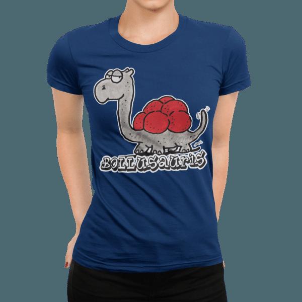 schwarzwald frauen t-shirt - dinosaurier mit bollenhut