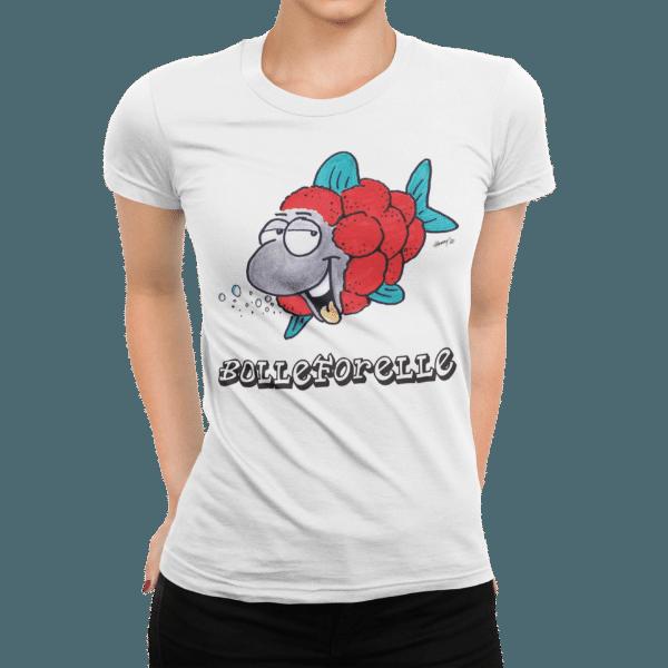 schwarzwald frauen t-shirt - forelle mit bollenhut