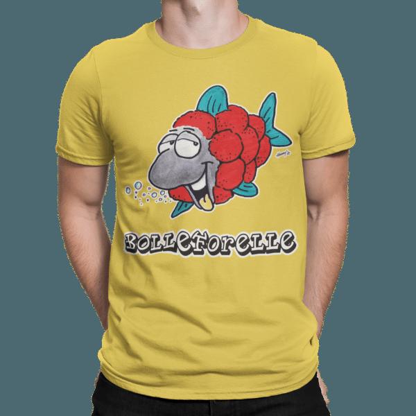 schwarzwald maenner t-shirt - forelle mit bollenhut